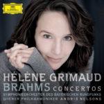 """Hélène Grimaud - Albumcover """"Brahms Piano Concertos"""" [Photocredit: Mat Hennek / DG]"""