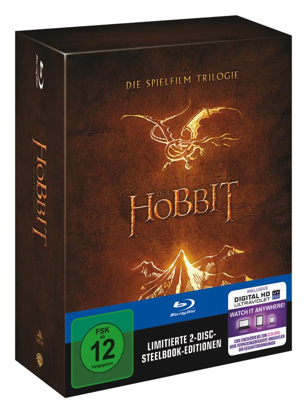 Der Hobbit - Die Spielfilm Trilogie [Limitierte 2-Disc-Steelbook-Edition]