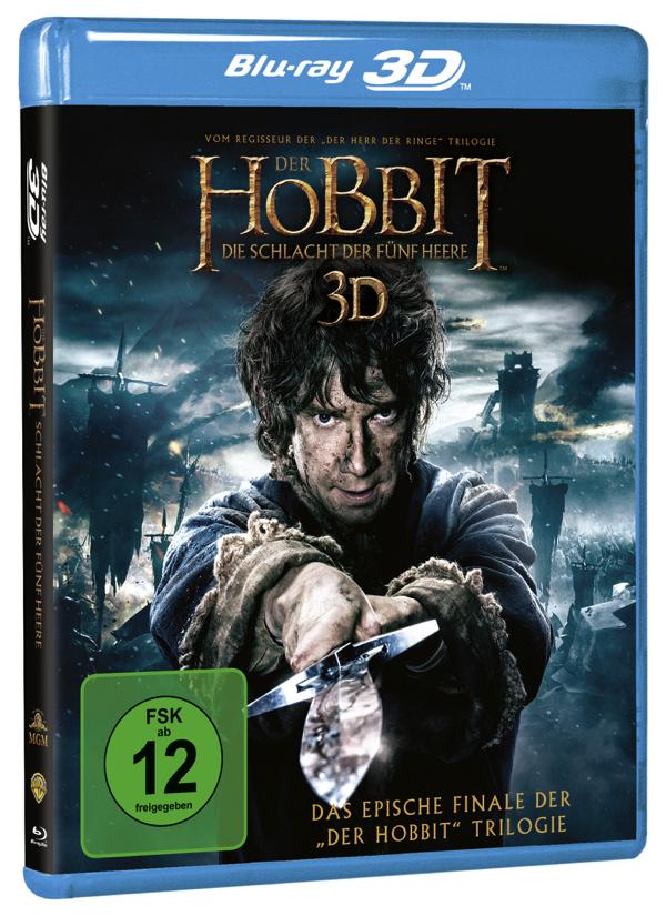 Der Hobbit - Die Schlacht Der Fünf Heere - Cover: Blu-ray 3D