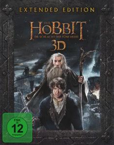 """""""Der Hobbit - Die Schlacht der fünf Heere"""" Extended Edition - 3D BD Cover"""