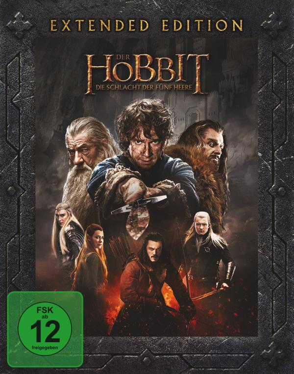 """""""Der Hobbit: Die Schlacht der fünf Heere"""" Extended Edition - BD Cover"""